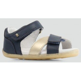 Bobux - Step Up Sail Sandal Navy + Misty Gold
