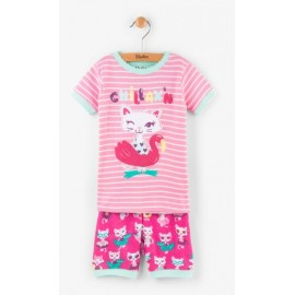 Hatley - Felines In Fun Floats Applique Short Pyjama Set
