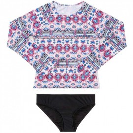 Seafolly - Aztec Folk Long Sleeve Surf Set - Multi