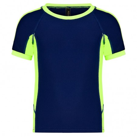 Aqua Blu Australia - Boys Building Blocks Short Sleeve Rash Vest - Navy/Lime