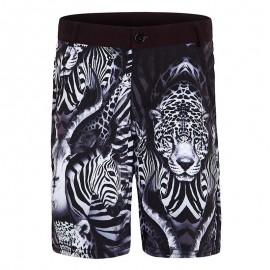 Aqua Blu Australia - Primal Tailored Shorts Multi/Black