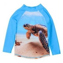 Bebe - Caleb Long Sleeve Turtle Rash Vest - Light Blue