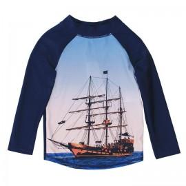 Bebe - Jayce Long Sleeve Ship Rash Vest - Royal Navy
