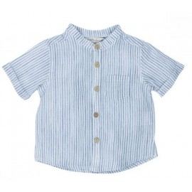 Bebe - Jungle Stripe Shirt - Navy Stripe