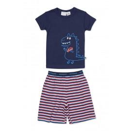 Marquise - Boys Dinosaur Pyjamas - Navy/Stripe