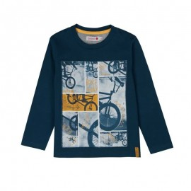Boboli - Boys Long Sleeve T-Shirt - Navy