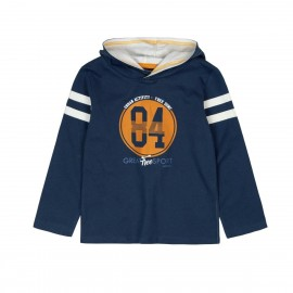Boboli - Boys Fleece Hooded Sweatshirt - Navy