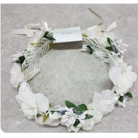 Designer Kidz - Juliette Flower Crown - Ivory