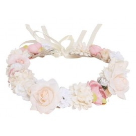 Designer Kidz - Juliette Flower Crown - Pink