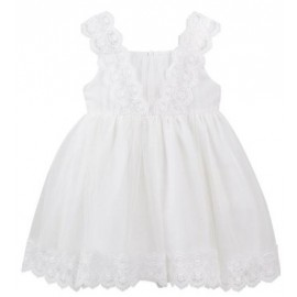 Designer Kidz - Cynthia Lace Dress - Ivory