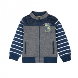 Boboli - Boys Fleece Jacket - Navy/Grey