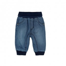 Boboli - Padded Soft Denim Pants - Blue