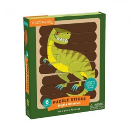 Mudpuppy - Puzzle Sticks - Mighty Dinosaurs