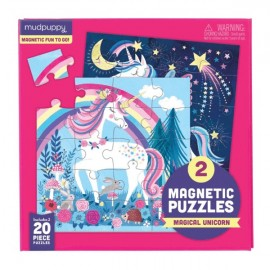 Mudpuppy - Magnetic Puzzle To Go - Magic Unicorn