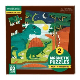 Mudpuppy - Magnetic Puzzle To Go - Mighty Dinosaurs