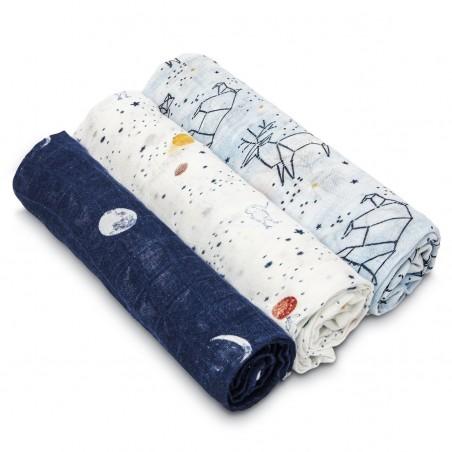 Aden + Anais - White Label Stargaze - 3 pack Silky Soft Swaddles