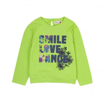 Boboli - Girls Long Sleeve Stretch Tee - Green