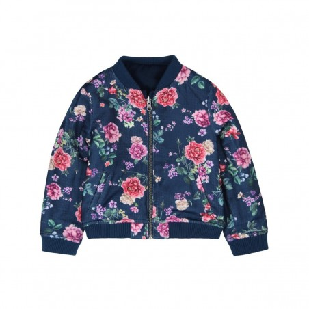 Boboli - Girls Bomber Reversible Jacket - Navy
