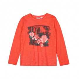 Boboli - 100% Cotton Long Sleeve Top for Girls - Orange