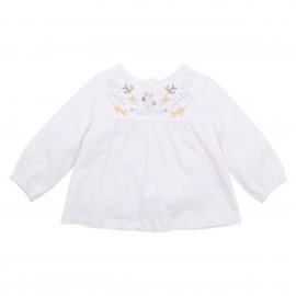 Fox & Finch - Nordic Yoke Blouse - Cloud