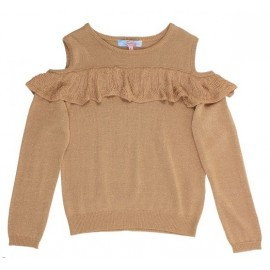 Tahlia - Boston Cold Shoulder Jumper - Gold
