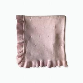 Beanstork - Classic Pointelle Blanket - Floss