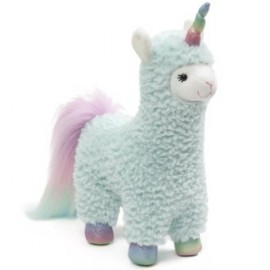 Gund - Llamacorn: Cotton Candy Turquoise 28 cm