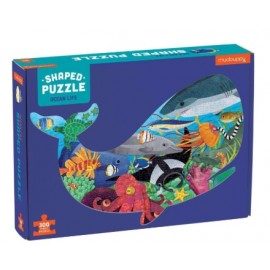 Mudpuppy - 300 Piece Shaped Scene Puzzle - Ocean Life