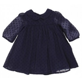 Bebe - Dobby Chiffon Dress - Navy