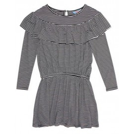 Tahlia - Boston  Stripe Dress - Black Stripe