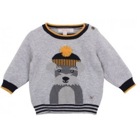 Fox & Finch - Woof Dog Sweater - Grey Marl