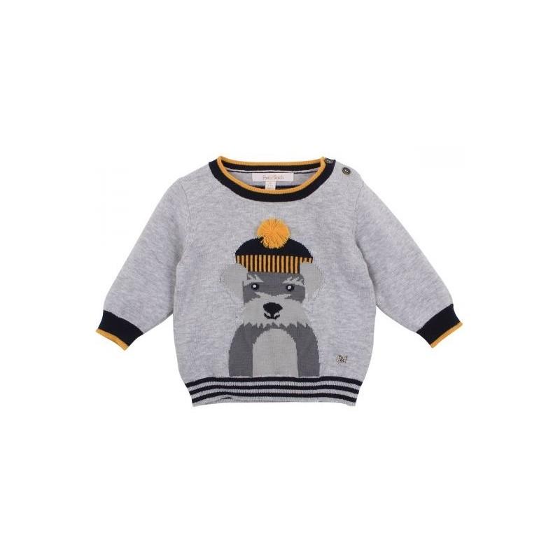 Fox & Finch - Woof Dog Sweater - Grey Marl