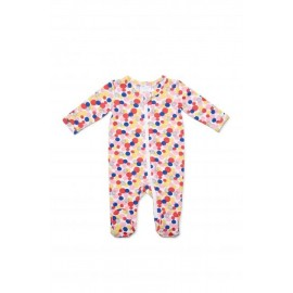 Marquise - Girls Multi Spot Zipsuit - Pink Multi