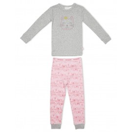Marquise - Girls Cat Pyjamas - Grey/Print