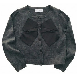 Mr & Miss Australia - Bowtiful Knit Cardi - Charcoal
