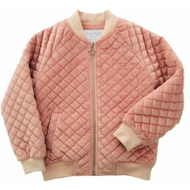 Mr & Miss Australia - Star Velvet Bomber - Salmon Pink