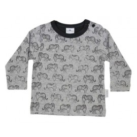 Korango Australia - Tiger Print Long Sleeve Tee - Grey