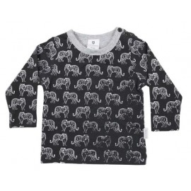 Korango Australia - Tiger Print Long Sleeve Tee - Charcoal