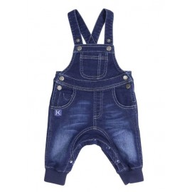 Korango Australia - Tiger Denim Knit Overall - Dark Wash