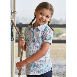 Thomas Cook - Girls Angela Short Sleeve Shirt - Soft Blue