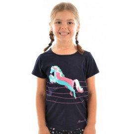 Thomas Cook - Girls Sequin Horse Tee - Dark Navy