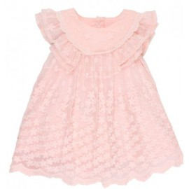 Bebe - Special Occasion Frill Sleeve Lace Dress - Pink