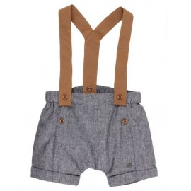 Bebe - Henry Woven Short with Braces - Charcoal