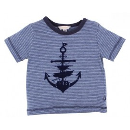 Fox & Finch - Seven Seas Stripe Anchor Tee - Sea Stripe